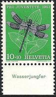 """Schweiz Suisse Pro Juventute 1951: Zu 139 Mi 562 Yv 513 ** MNH Mit Tab """"Wasserjungfer"""" (SBK CHF 4.00) - Altri"""