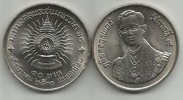 Thailand 10  Baht 1987. Y#196 60th Anniversary Of Rama IX - Thaïlande