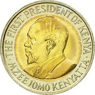 Monnaie, Kenya, 5 Shillings, 2009, British Royal Mint, TTB, Bi-Metallic, KM:37.1 - Kenya