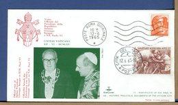 VATICANO - VISITE UDIENZE - 1965 -  VISITA DI PRESIDENTE REPUBBLICA ITALIANA  GIUSEPPE SARAGAT - Papi