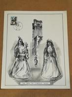 """Ath - Les Amis Du Timbre 1971 COB N° 1593 . Illustration M. Peltier . Oblitération """"La Gouyasse""""  Format 30x24 . - Documents Of Postal Services"""
