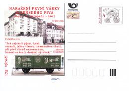 Rep. Ceca / Cart. Postali (Pre2017/47) Pilsner Urquell 175 Anni (1842); Città Di Plzen, Vendendo Il Primo Lotto Di Birra - Birre