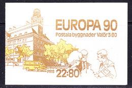 Europa Cept 1990 Sweden Booklet  ** Mnh (40845) - Europa-CEPT