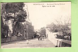 MONTOLIVET - Boulevard Marius Richard - Eglise Vue De Côté - Animée - Peu Courant - Ed. Vivant    2 Scans - Non Classés