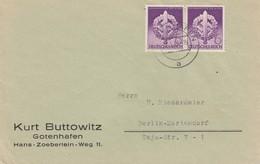 COVER GERMANY. REICH. 22 3 43. KURT BUTTOWITZ GOTENHAFEN TO BERLIN. Mi 818 - Briefe U. Dokumente