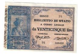 Italy 25 Lire 1896 Umberto-  Riproduzione Volutamente Invecchiata - Reproduction - 25 Lire