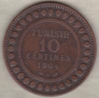 PROTECTORAT FRANCAIS. 10 CENTIMES 1904 A. BRONZE. - Tunesien