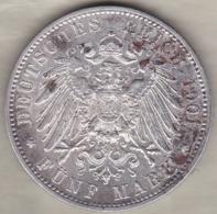 WÜRTTEMBERG 5 Mark 1901 F Wilhelm II .ARGENT /SILVER. KM# 632 - [ 2] 1871-1918: Deutsches Kaiserreich