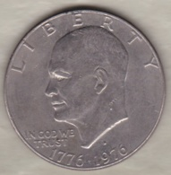 Etats Unis .1 Dollar 1976 D Denvers. Eisenhower . Bicentenaire 1776 1976 - 1971-1978: Eisenhower