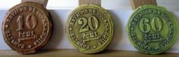 Fèves Brillantes Plates - Ecus De La Gourmandise De Banette 2009 -  X 3 - Charms