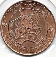 25 WESTVLAADER 1981 POPERINGE-MOORSELEDE-GISTEL - Jetons De Communes