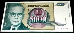 Yugoslavia, 1992, 5000 DIN, Used - Ivo Andric- Nobel Prize For Literature -The Bridge On The Drina River. - Yugoslavia