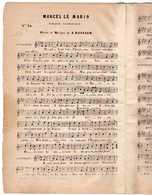CAF CONC DRAME MARINE PARTITION XIX MARCEL LE MARIN ERNEST DASSIER 1851 LA LYRE FRANÇAISE 78 BRANDUS - Autres