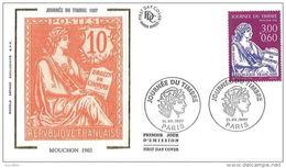 France FDC Soie 1997 - Journée Du Timbre - Mouchon 1902 - Paris - 1990-1999