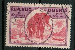 Liberia 1921 $5.00 Elephant Issue #194 - Liberia