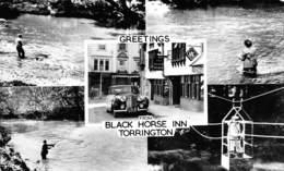 P-T2-18-5842 : GREETINGS BLACK HORSE INN TORRINGTON - Etats-Unis