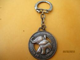 Porte-clé Publicitaire Métallique/Alimentation/Thé De L'ELEPHANT/ Bronze Nickelé/Porte-Bonheur/Vers 1960-1980     POC361 - Key-rings