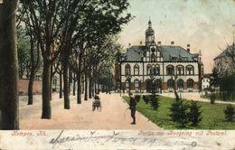 KEMPEN Am Niederrhein, Partie Am Burgring Mit Postamt (1908) AK - Other
