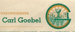 Facture Lettre 1948 / Allemagne SAARBRUCKEN / Carl GOEBEL / Vins / Adressée à Hacquard Distillateur 70 Fougerolles - Germany