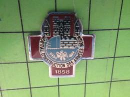 713F Pin's Pins / Beau Et Rare : Thème MILITARIA / BEGIN Mais Pas Menahem HOPITAL D'INSTRUCTION DES ARMEES - Militaria