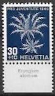 """Schweiz Suisse Svizzera: Pro Juventute 1946 Zu 120 Mi 478 Yv 436 ** MNH & Tab Latinum """"Eryngium Alpinum"""" (CHF 10.50) - Other"""