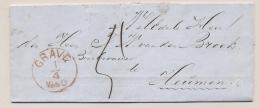 Nederland - 1860 - Complete Vouwbrief Van KUYK Via Grave En Nijmegen Naar Heumen - Pays-Bas