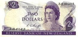 NEW ZEALAND $2 JAMES COOK WMK 1ST ISSUE HEAD OF QEII BIRD BACK ND(1975-77) SIGN KNIGHT P.164c EF W.1992 READ DESCRIPTION - Nouvelle-Zélande