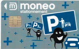 MONEO CARTE A PUCE PORTE-MONNAIE ELECTRONIQUE MULTI-SERVICES STATIONNEMENT (POUR COLLECTIONNEUR) - Frankrijk