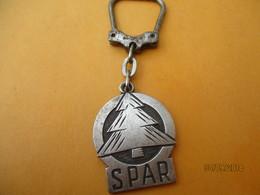 Porte-clé Publicitaire Métallique/Alimentation/SPAR/Votre Magasin D'Alimentation/Bronze Nickelé/Vers 1960-1980 POC363 - Key-rings