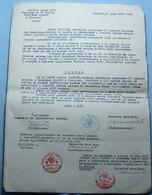 1954 Yugoslavia BANK DECISION, Seal: PRIZREN (Kosovo - Serbia), - Bills Of Exchange