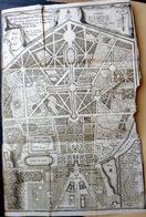 78 VERSAILLES 17°  PLAN GENERAL DU PARC JARDINS FONTAINES CHATEAU ET DE LA VILLE EN 1700 - Geographical Maps