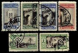 TANGER, Telegraphs, Used, F/VF - Spanish Morocco