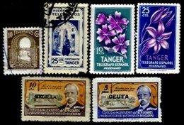SPANISH MOROCCO, Telegraphs, */o M/U, F/VF - Spanisch-Marokko