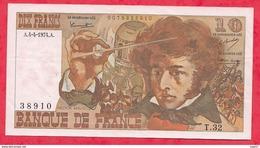 """10 Francs """"Berlioz"""" Du 04/04/1974.A Série T.32 ---- VF/SUP (1 Trou D 'épingle) - 1962-1997 ''Francs''"""
