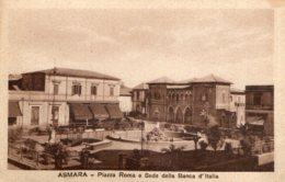 [DC7544] CPA - ERITREA - ASMARA - PIAZZA ROMA E SEDE DELLA BANCA D'ITALIA - Old Postcard - Erythrée