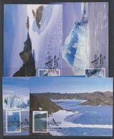 AAT 1996 Landscaps/Landforms 4v 4 Maxicards (40848) - Australisch Antarctisch Territorium (AAT)