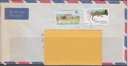 Falkland Islands 1996 Air Mail Cover With 2 Stamps (F7535) - Falklandeilanden