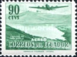 ECUADOR  USED STAMPS Ecuador - Airmail - Douglas DC-4 Over San Pablo Lake- 1954 - Ecuador
