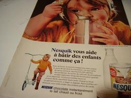 ANCIENNE PUBLICITE AFFICHE CHOCOLAT NESQUIK 1969 - Posters