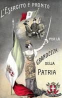 [DC7551] CPA - L'ESERCITO E' PRONTO PER LA GRANDEZZA DELLA PATRIA - Non Viaggiata - Old Postcard - Patrióticos
