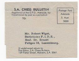 Australia ; Postage Page Label Chess Bulletin - Arménie