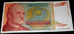 Yugoslavia, 1993, 500 Billion  DIN. AA. - Yugoslavia