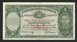 AUSTRALIA 1 POUND ND (1942) Armitage / McFarlane P-26b VF+ - Emissions Gouvernementales Pré-décimales 1913-1965