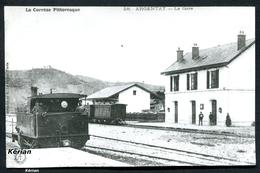 Photo La Vie Du Rail - Reproduction Ancienne D'une CPA - La Corrèze Pittoresque - Argentat - La Gare - Voir 2 Scans - Argentat