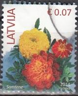 Latvija 2014 Fleur 0.07 Euro O Cachet Rond - Lettonie