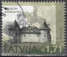 Latvija 2017 Europa CEPT Château De Bauskas Pils O Cachet Rond - Lettonie
