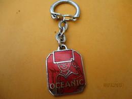 Porte-clé Publicitaire/Appareillage Ménager/OCEANIC/Télévision/St Christophe /Bronze Cloisonné émaillé/Vers1960   POC369 - Key-rings