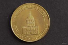 JETON MONNAIE DE PARIS DOME DES INVALIDE TOMBEAU DE NAPOLEON   MEDAILLE COLLECTION NATIONALE  DOS SIMPLE SANS DATE - Monnaie De Paris