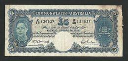 AUSTRALIA 5 POUNDS ND (1941) Armitage - McFarlane P-27b F+/ AVF - Emissions Gouvernementales Pré-décimales 1913-1965