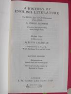 A History Of English Literature. Legouis, Cazamian. Dent London 1961 - Anthologies